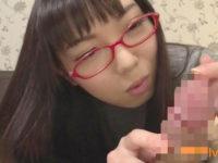 【無修正】研究したいんです♪地味メガネ娘がフェラ!!