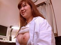 【無修正】マシュマロ乳の痴女医が中折れしちゃう患者に試しハメ治療で中出し懇願!雪染ちな