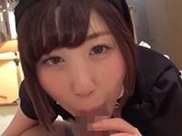 【無修正】ネコ耳メイドコスの従順なパイパン美少女に生ズボ