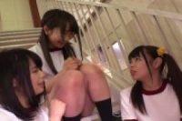 【無修正】汚いカップ3人が学校を占拠します!