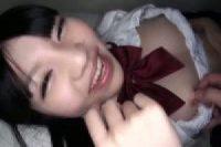 【無修正】葵野まりん 巨尻な美少女と制服コスでゴム姦