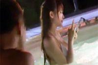 ナイトプールで極上美女を発見!トイレに連れ込み鬼畜レイプ