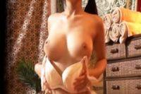 マッサージの無料体験と騙された美巨乳妻が生チン挿入されて‥