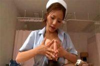 こんな爆乳看護師がいるならお世話になりたい! 手コキ足コキといろんなテクニックで精子を搾り取る美人ナース